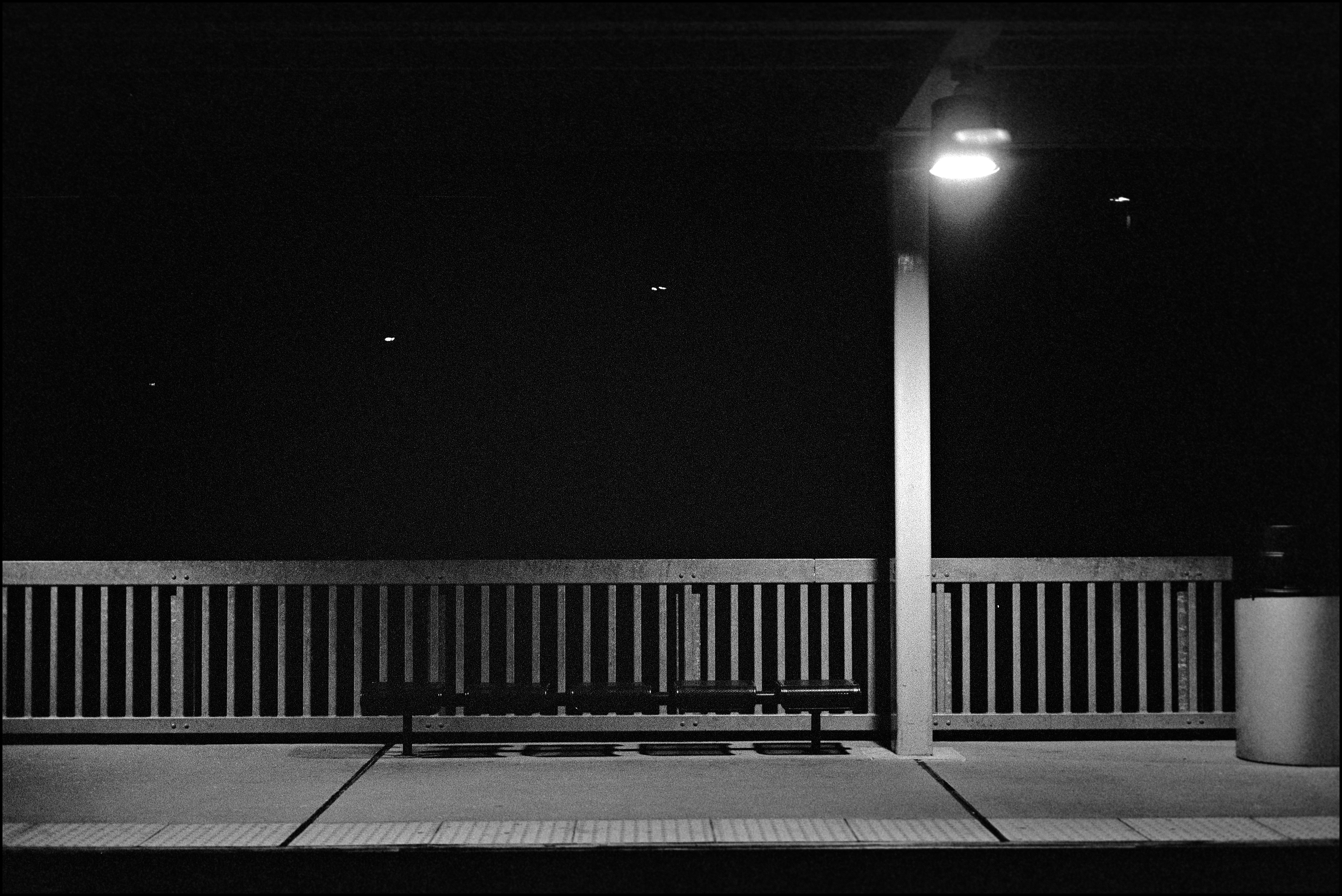 station stop, somewhere in delaware